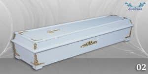 погребален ковчег 02 бял