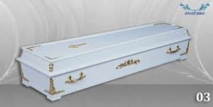 погребален ковчег 03 бял