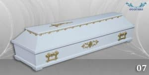 погребален ковчег 07 бял