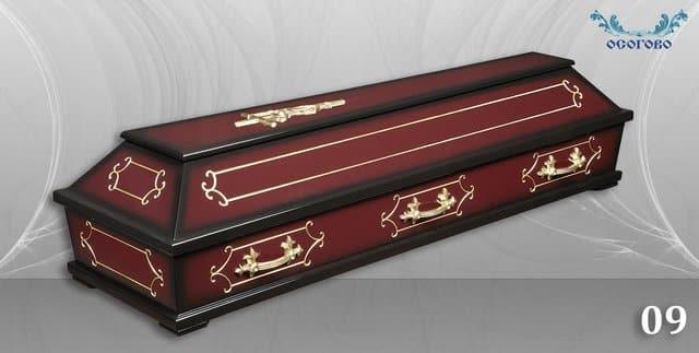 погребален ковчег 09 кафяв