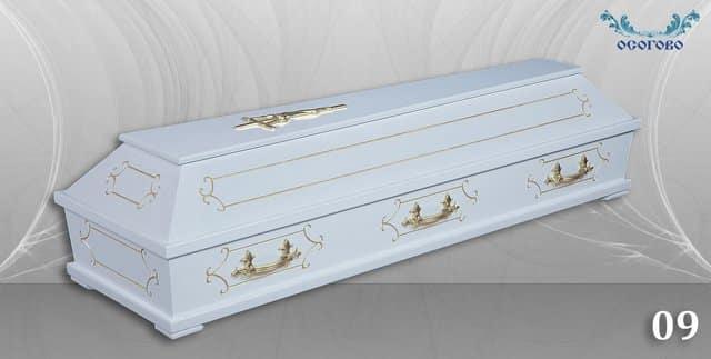 погребален ковчег 09 бял