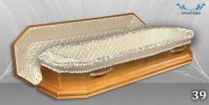 погребален ковчег 39 отворен
