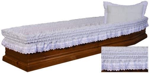 памучна драперия за ковчег